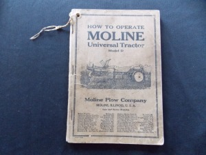 Operation & Repair Manuals Lot (2) Moline Universal Tractor Model D and Twin City 40 Oil Tractor