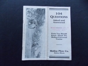 (2) Moline Plow Co. brochures