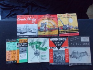 Oliver, New Idea, Belle City, Wood Brothers, Avery Literature Lot (7)