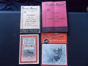 McCormick-Deering/International Harvester Literature Lot (4)