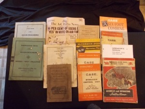 Allis-Chalmers, McCormick Deering, Case, Sperry New Holland, Dearborn-Wood Literature Lot (13)