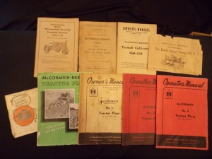 McCormick-Deering Literature Lot (9)