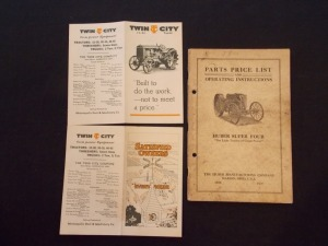 Twin City and Huber Super Four Literature Lot (3)