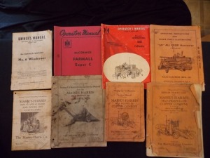 McCormick-Deering, Allis-Chalmers and Massey-Harris operating manuals (8)