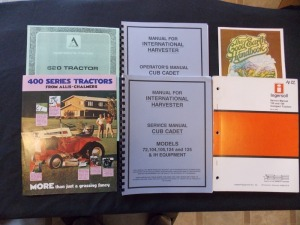 Lawn and Garden tractor Literature Lot (7)