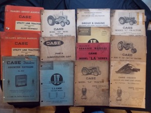 Case Manuals, Parts Catalogs, etc Literature Lot (13)
