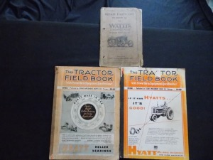 Wallis Parts List and 2 Tractor Field Books