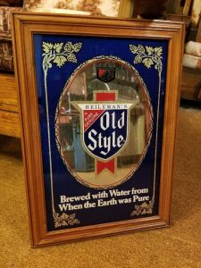 Old Style Mirror Beer Sign