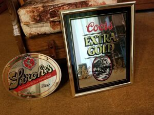 Coors And Stroh's Beer Sign Mirrors