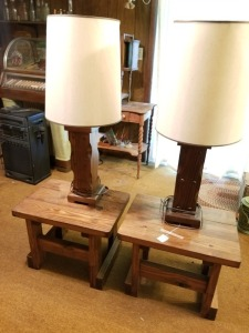 Wood Side Tables And Lamps