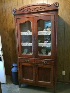 Antique  Display Cabinet 6.5 FT Tall
