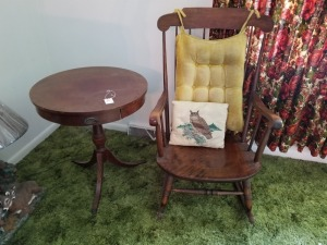 Rocking Chair And Table Lot