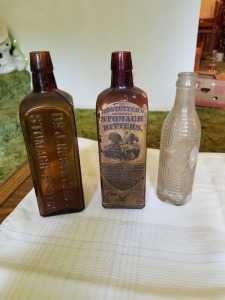 Hostetters Stomach Bitters Glass Bottle Lot