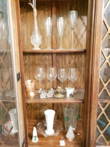 Glass Stemware And Décor Lot