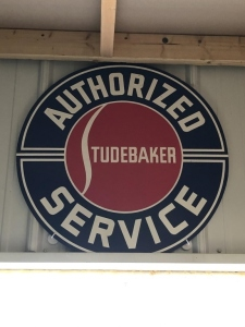 Authorized Service Studebaker sign.