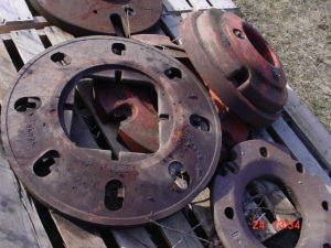 4 Odd Case Tractor Weights