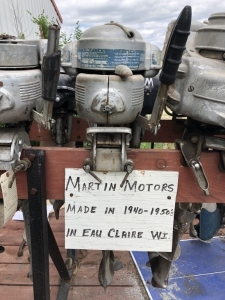 Martin Motors boat motor. Made in Eau Claire, WI. 1940s-1950s