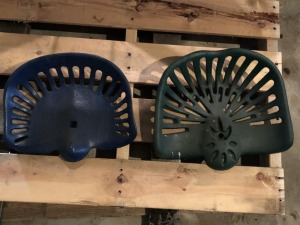 2 cast iron seats