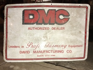 DMC David Mfg. sign