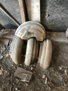 Pair of rear combine weights
