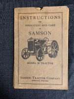 (2) Instructions for the Operation and Care of Samson Model M Tractor