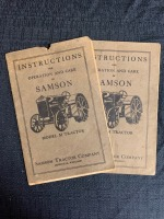 (2) Instructions for the Operation and Care of Samson Model M Tractor - 2