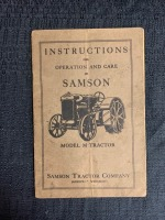 (2) Instructions for the Operation and Care of Samson Model M Tractor - 5