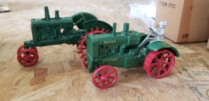 1/16th Gray Custom, etc. Oliver (2)-cast iron tractors on steel w/fenders