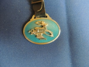 John Deere Turquoise Blue Oval Fob