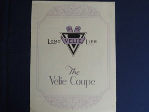 Velie Coupe Fold Out Brochure