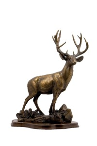 NP 07 MULE DEER SCULPTURE-Bronze