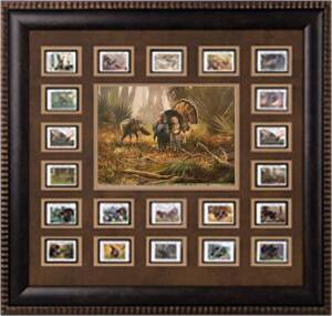 2011 FRAMED STAMPS PALMETTO   OSCEOLA-STAMP PRINT