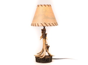 "NP Antler Lamp w/ Shade 21"" tall - NWTF3650"