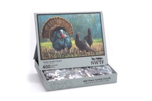"NP NWTF 400 pc Puzzle w/""Turkey Country"" artwork by Ryan Kir"