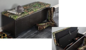 Gun Concealment Bench with MO Obsession Top/Vinyl Sides with hidden gun inside does have an AR-15 style gun in the chest