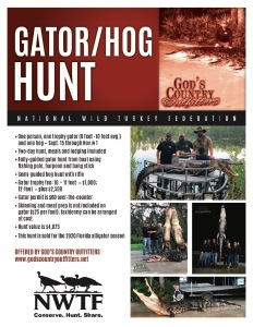 Gator/Hog Hunt for 1 with God's Country Outfitters