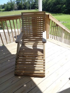 Wooden Deck Chair