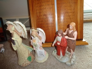 Religious Figurines and plaque