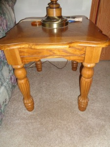 2 matching Oak Rectangular End Tables