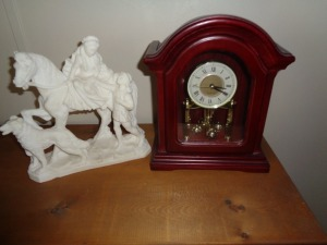 Clock and Figurine