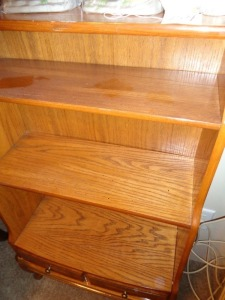 three shelf stand w/ Drawer