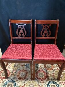 6 Cushioned Dining Room Chairs Good condition