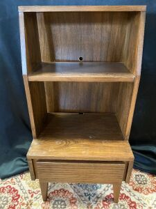 Solid Wood Bookcase With drawer