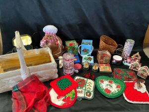 Christmas Collectibles in Tote