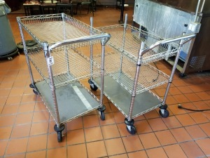 (2) Heavy Duty Stainless Carts