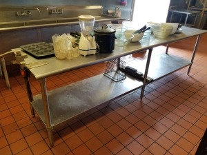 Stainless Prep Table With Can Opener