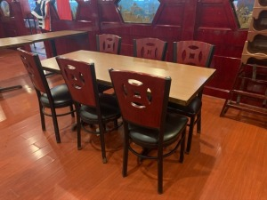 (1) Restaurant Table And (6) Chairs