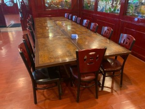 (8) Restaurant Tables And (17) Chairs