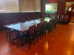 (7) Restaurant Table And (22) Chairs