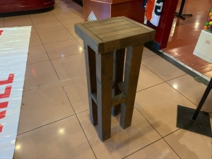 "WOODEN STAND 37 "" Tall"